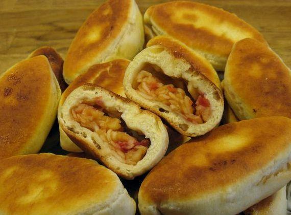 Жареные пирожки на кефире с капустой рецепт с фото