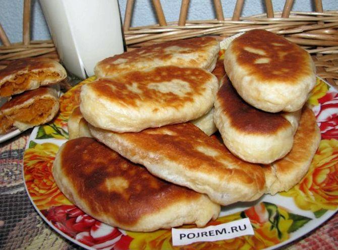 Жареные пирожки с капустой рецепт с фото