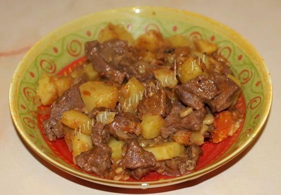 Жаркое из говядины с картошкой рецепт с фото