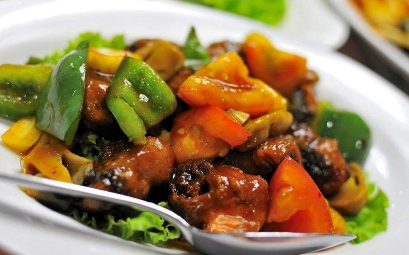 Овощи по-китайски в кисло-сладком соусе рецепт