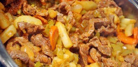 Азу из говядины в мультиварке рецепт с фото
