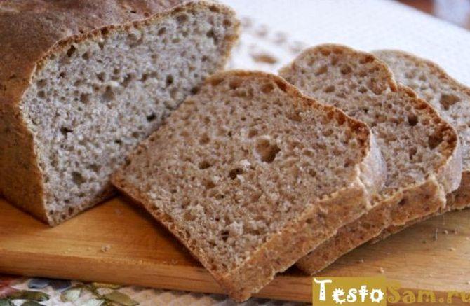 Бездрожжевой ржаной хлеб в домашних условиях в духовке рецепт с фото