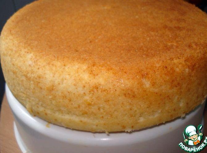Бисквит на горячем молоке рецепт с фото