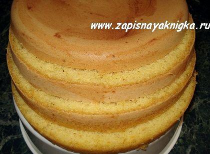 Бисквитный торт рецепт в мультиварке с фото