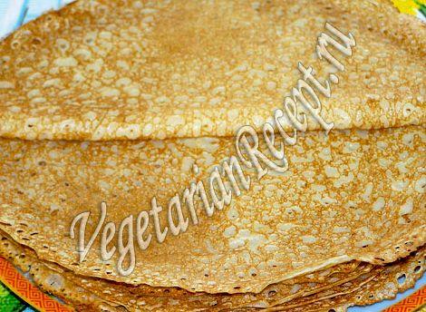Блины на кефире рецепт тонкие с дырочками без яиц