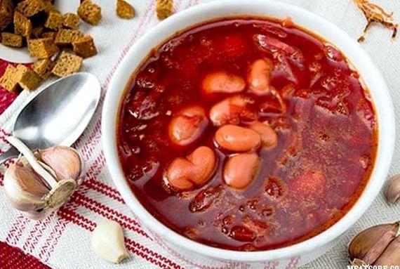 Борщ рецепт классический с фасолью с фото