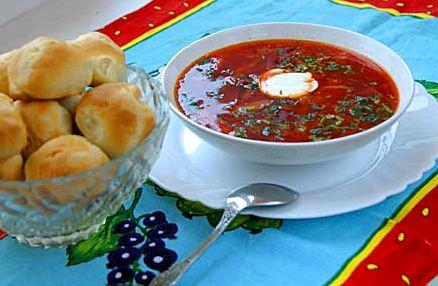 Борщ украинский рецепт с пампушками с фото