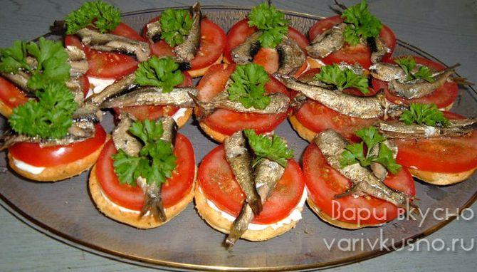 Бутерброды со шпротами рецепт с фото с черным хлебом