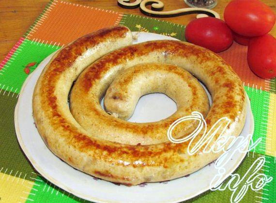 Домашняя колбаса из курицы в кишках рецепт с фото