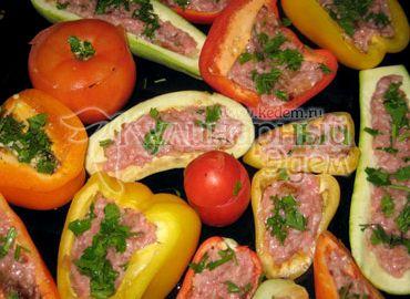 Фаршированные овощи в духовке рецепт с фото