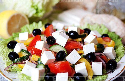 Греческий салат рецепт классический пошаговый рецепт