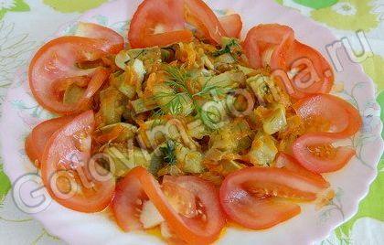 Кабачки тушеные с морковью и луком рецепт