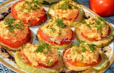 Кабачки в духовке с сыром и помидорами фото рецепт
