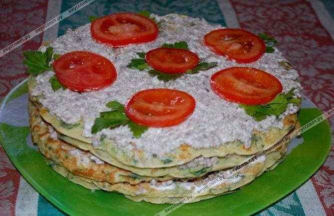 Кабачковый торт рецепт с фото пошагово с фаршем