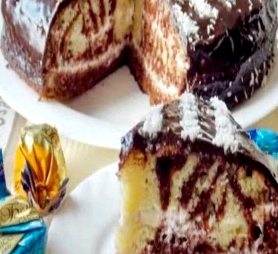 Как приготовить торт зебра пошаговый рецепт