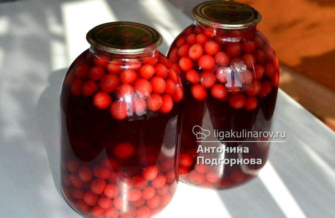Как приготовить вишневый компот на зиму пошаговый рецепт