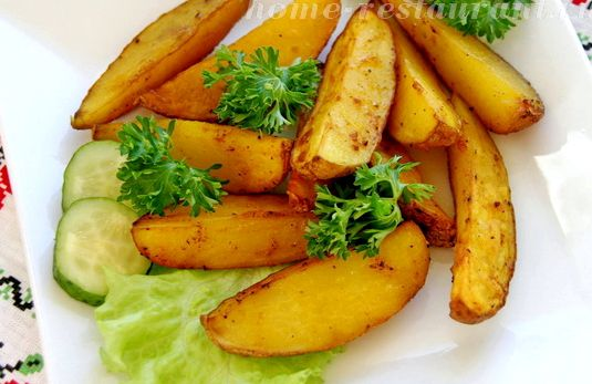 Картофель по деревенски в духовке рецепт с фото в рукаве
