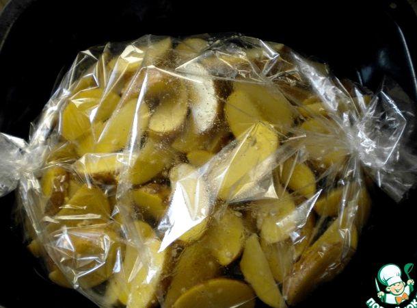 Картофель по деревенски в рукаве в духовке рецепт с фото