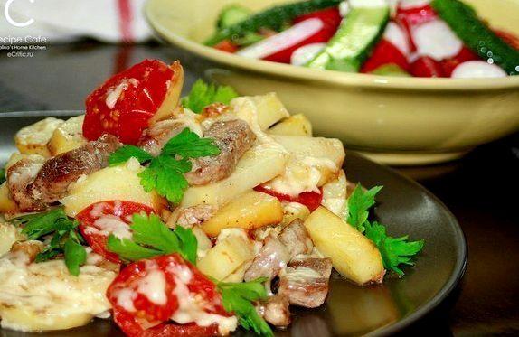 Картофель по-французски на сковороде рецепт с фото