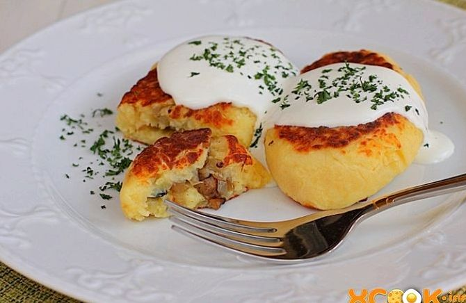 Картофельные котлеты с грибами пошаговый рецепт с фото