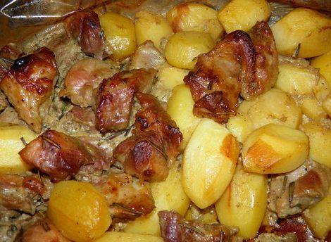 Картошка с говядиной в духовке рецепт с фото