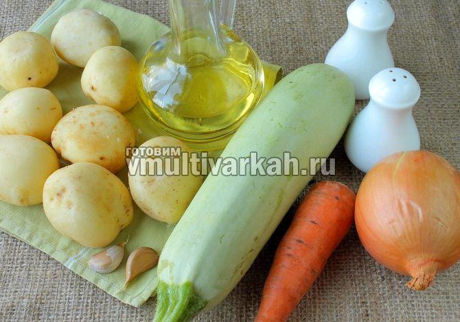 Картошка тушеная с кабачками рецепт