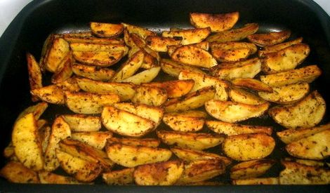 Картошка в духовке на протвине рецепт с фото
