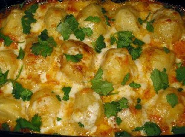 Картошка в духовке с сыром и майонезом рецепт с фото