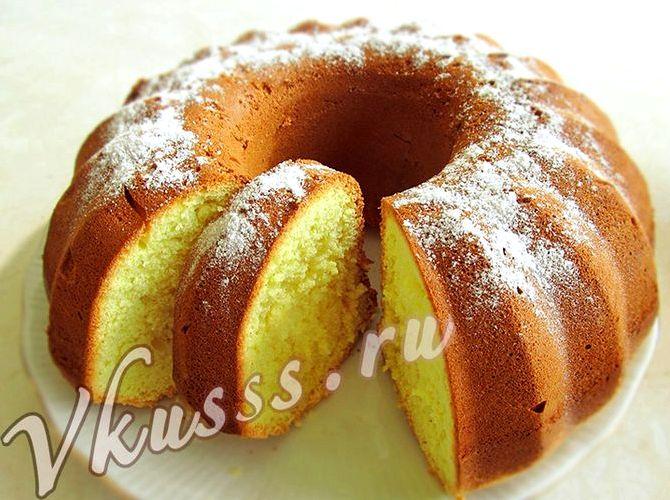 Кекс в духовке рецепт с фото пошагово