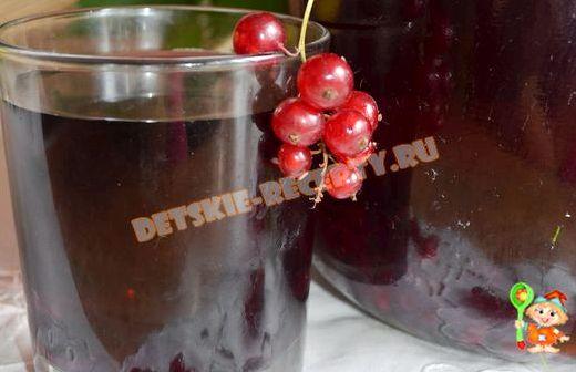 Компот из красной и черной смородины на зиму рецепт