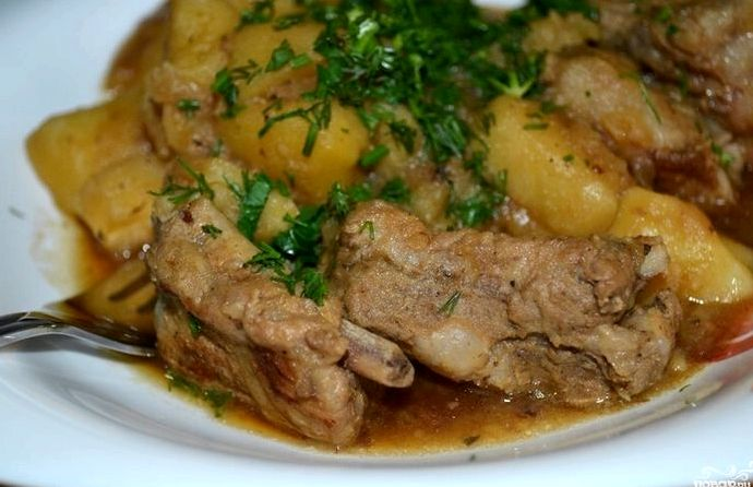 Копченые ребрышки с картошкой рецепт