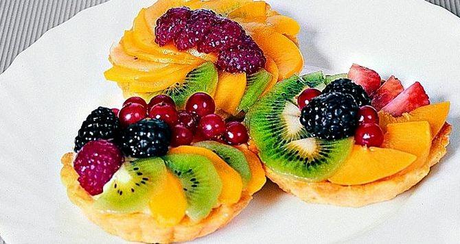Корзиночки с фруктами и желе рецепт с фото