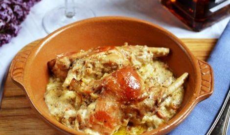 Кролик в сметанном соусе в духовке рецепт с фото