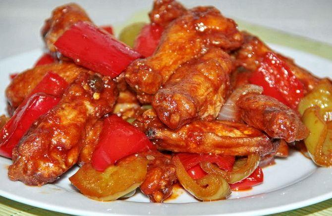 Крылышки в кисло-сладком соусе рецепт