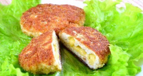 Куриные котлеты с сыром в духовке рецепт с фото