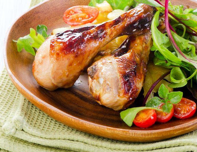 Куриные ножки в духовке с хрустящей корочкой с картошкой рецепт с фото