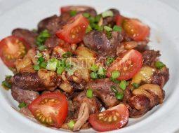 Куриные сердечки в духовке рецепт с фото