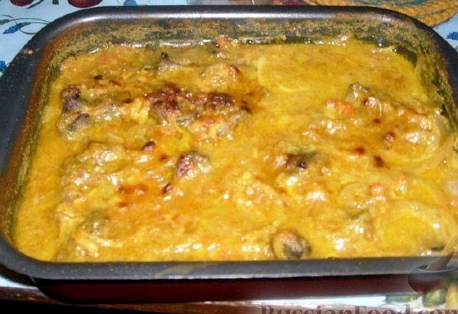 Куриные желудки в духовке рецепт с фото