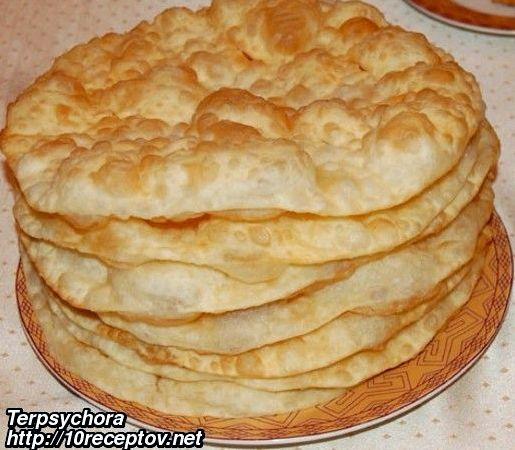 Лепешки на сковороде на молоке рецепт с фото