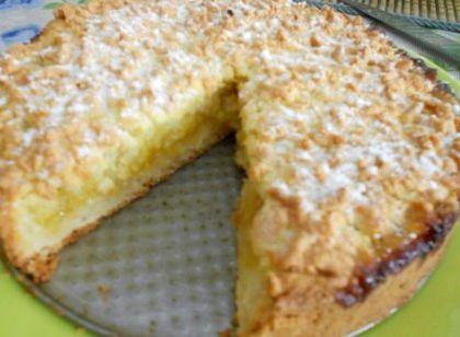Лимонный пирог из песочного теста рецепт