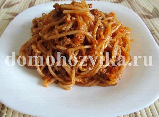 Макароны с фаршем с томатной пастой рецепт с фото