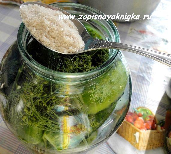 Малосольные огурцы залитые кипятком рецепт