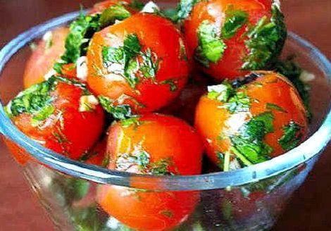 Малосольные помидоры быстрого приготовления в пакете рецепт