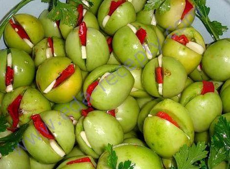 Маринованные зелёные помидоры. рецепт