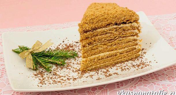 Медовый торт пошаговый рецепт с фото со сгущенкой