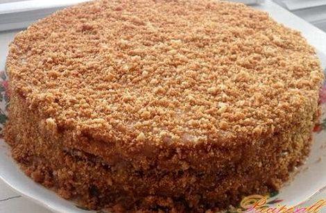 Медовый торт рецепт с фото с вареной сгущенкой