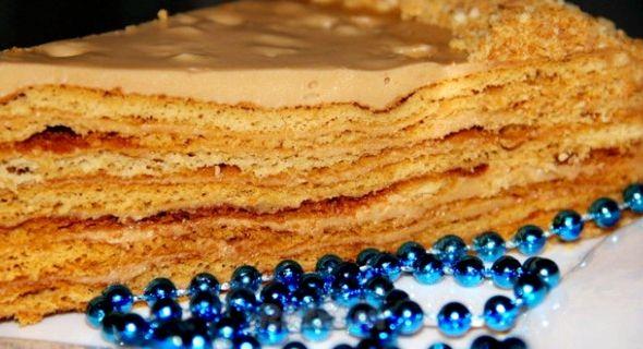 Медовый торт с вареной сгущенкой рецепт с фото
