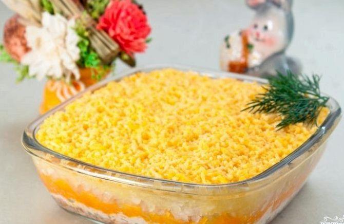 Мимоза рецепт классический с сыром пошаговый рецепт