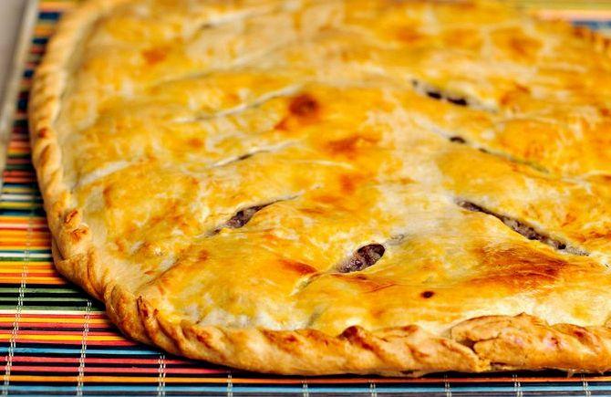 Мясной пирог рецепт с фото пошагово в духовке