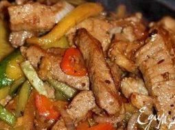 Мясо по-китайски с овощами рецепт с фото